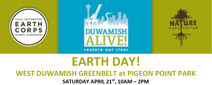Earth Day with Earth Corps @ West Duwamish Greenbelt at Pigeon Point Park, West Seattle