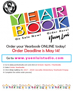 Last Day to Order Yearbooks (Second-Chance Window Closes)